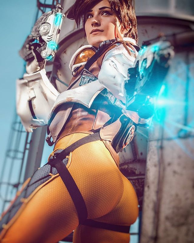 Tracer Cosplay Costume Overwatch Cosplays 4porn 1